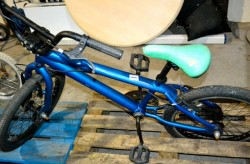 Child's  blue stunt bike imaculate  condition