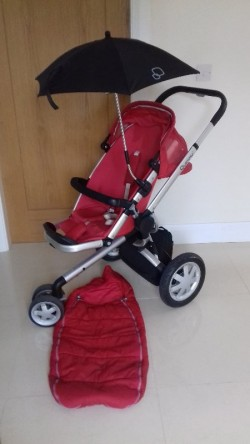 Quinny buggy with accessories