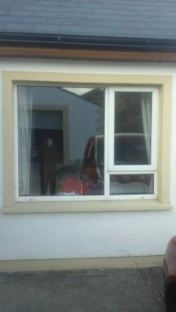 Double glazed pvc window