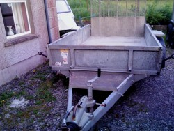 IFOR WILLIAMS 10 X 6 plant trailer with lights and brakes working