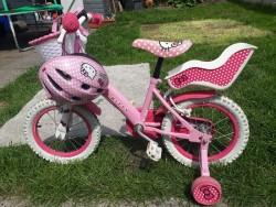 Hello kitty kids bike and helmet