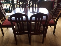 Price reduced , Dining table and 6 chairs
