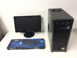 Gaming Computer PC, Complete Setup with Monitor (Intel i5, 8GB RAM, 500GB, GT 430)