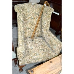 Antique wing backed chair