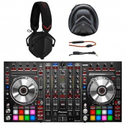 Pioneer DDJ-SX2 4-Channel Performance Serato DJ Controller with Shadow Over-the-Ear Headphones Packa