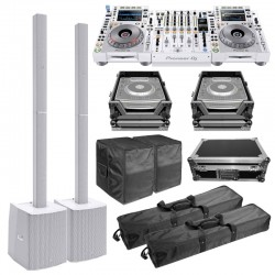 Pioneer DJ Limited Edition NXS2-W Flagship Professional DJ System with Bluetooth Column PA Systems &