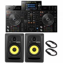 """Pioneer DJ XDJ-RX2 Rekordbox DJ System with KRK Rokit RP5G3 5"""" Powered Monitor Speakers Package"""