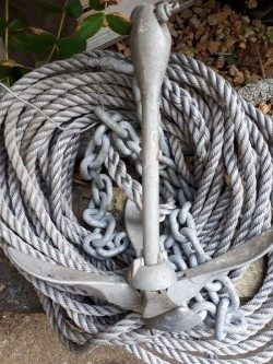 Boat Anchor, Chain & Rope