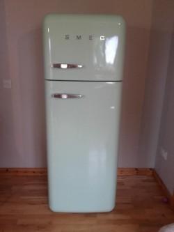 Mint green SMEG fridge freezer