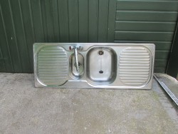 Stainless Steel Double Drainer Sink