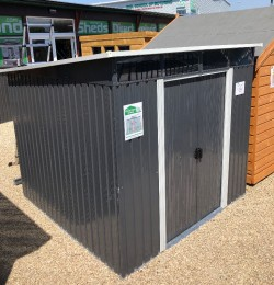 8FT * 6Ft Pent Metal Shed with Clear Light Panel