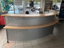 Business reception desk and business desk