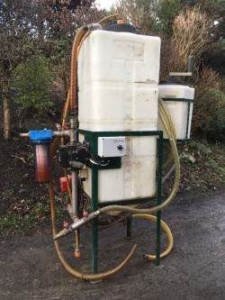 BIODIESEL PROCESSOR, DRUMS AND OIL