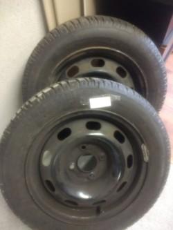 Set of Car Wheels New Tyres 165/65 R14.