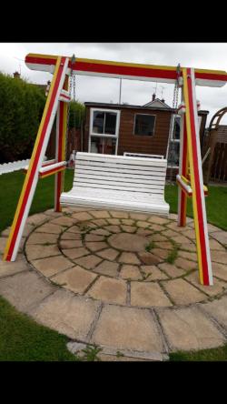Double garden swing