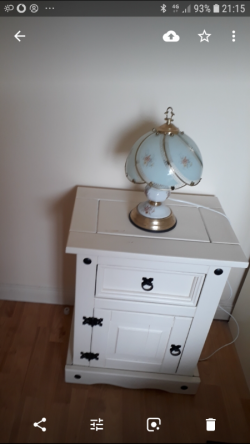 Bedside locker and touch lamp