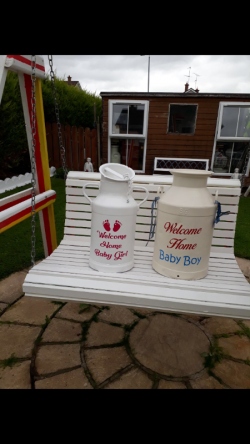 HIRE Baby girl and baby boy cans