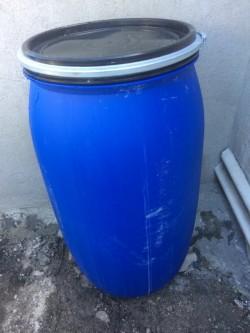 40 Gallon Plastic Barrels