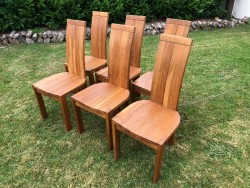 6 Oak Dining Room Chairs