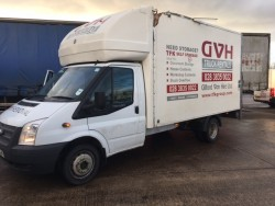 DAMAGED REPAIRABLE Ford Transit Luton with Tail Lift