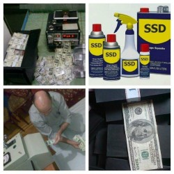 Solution For Cleaning Defaced Banknotes