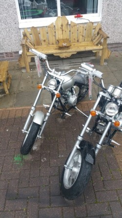 Mini harley chopper bikes