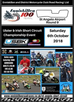 Motorcycle Racing ENNISKILLEN 100 REVIVAL ST ANGELO AIRPORT ENNISKILLEN