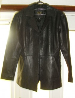 Ladies Leather Coat by Golden Leather (size 16)