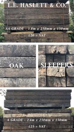 Railway Sleepers - Reclaimed Oak