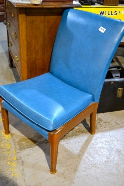 As new blue leather  Parker knoll chair