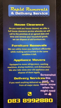 Rapid Removals and delivery service