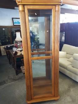Oak display cabinet complete with  sliding  door