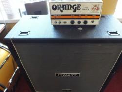 Orange Tiny Terror Amplifier Head mark 1 hiwatt 4 x 12 cabinet