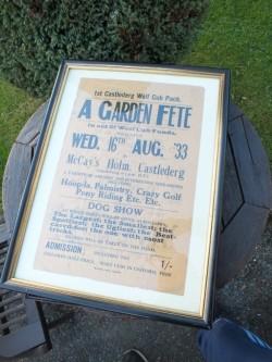 antique poster castlederg county tyrone 1933