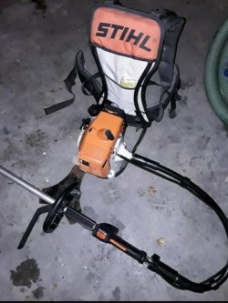 Stihl FS350 Strimmer with pivot backpack
