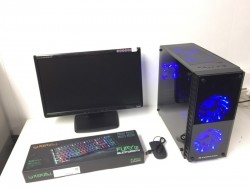 Custom Built Gaming Computer PC, Complete with Monitor (Intel i5, 8GB RAM, 500GB, GT 1030)