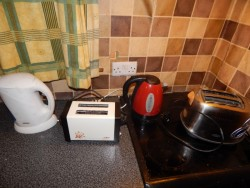 selection of toasters and kettles