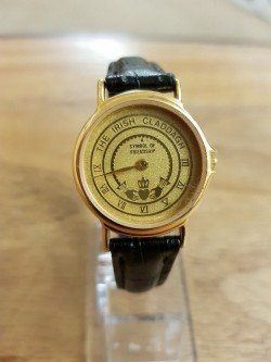 New ladies Claddagh  gold faced watch