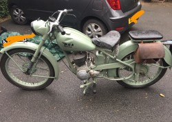 BSA D1 classic motorbike
