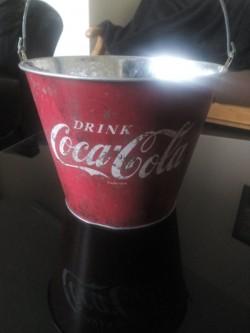 Vintage Look,Coca Cola Ice Bucket/ Planter
