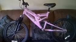 2 mens 1 child Mountain Bikes