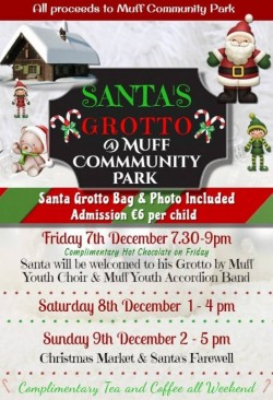 Santas Grotto at Muff Community Park