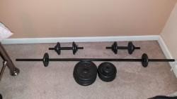 40kg Cast Weights Set