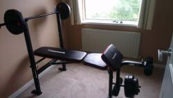 Weights bench & Nylon weights
