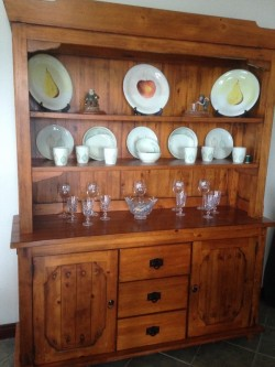 Dresser , Table and 6 chairs