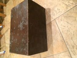 Antique wooden trunk chest raf