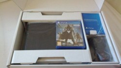 Sony PlayStation 4 Pro 1TB Black Console, Wireless Gold Headset, 2 Games