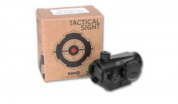 Aim Airsoft T1 Style Red Green Dot Scope Fits 20mm Ris Rails Low
