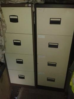 Coffee & Cream 4 drawer Filing Cabinet