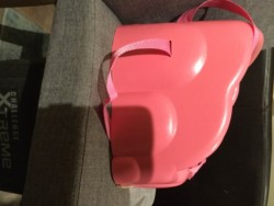 Pink feeding booster seat